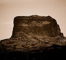 Head Shot Of Big Chief Mountain by Jason D. Laderoute