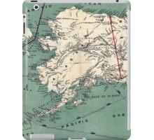 ALASKA GOLD RUSH SURVIVAL MAP/GUIDE  1897 iPad Case/Skin