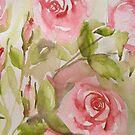 three rosebuds 'or the love of flowers' © 2007 patricia vannucci  by PERUGINA