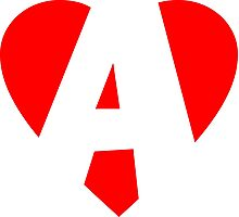 I love A - Heart A - Heart with letter A Photographic Print