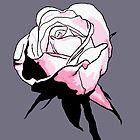 Pink Rosebud Cartoon by LastLittleBird
