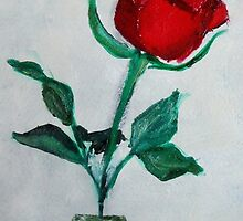 Red Rose 1 by rosalind roberts