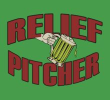 RELIEF PITCHER FUNNY GEEK NERD by norowelang