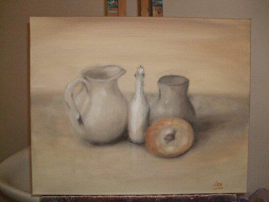 Bagel still life by Lynn Brown