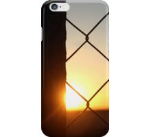Sunset behind the fence... iPhone Case/Skin