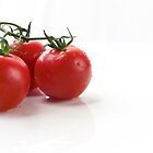 Wet Vine Tomatoes by Mark Stahl