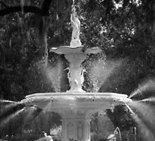 Savannah Fountain #1, Georgia by Benjamin Padgett