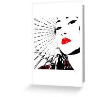 Geisha Red Greeting Card