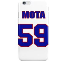 National baseball player Guillermo Mota jersey 59 iPhone Case/Skin