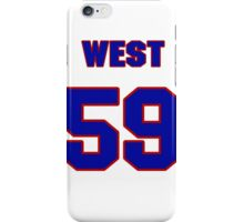 National baseball player Dick West jersey 59 iPhone Case/Skin