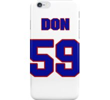 National baseball player Jerry Don jersey 59 iPhone Case/Skin