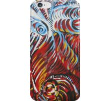 Angels and Demons (Hell) - oil on canvas iPhone Case/Skin