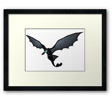 Flying Night Fury Design Framed Print