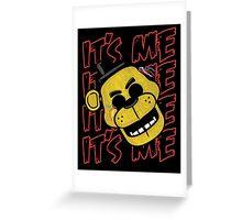 Five Nights At Freddy's It's Me Golden Freddy Fazbear Greeting Card