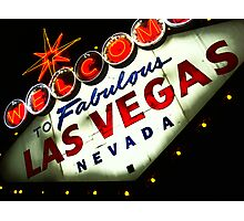 Vegas Sign No. 3 Photographic Print