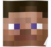 Minecraft - Steve - Pixel Art Poster
