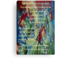And Now I'll Look Away - Greeting Card Metal Print