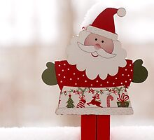 Santa toy, close up by Olja Merker