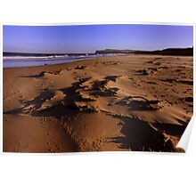Marske on Sea Beach , Northern England on a wild and windy day. Poster