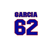 National baseball player Guillermo Garcia jersey 62 Photographic Print