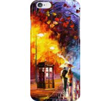 Starry Night Tardis Art Painting iPhone Case/Skin