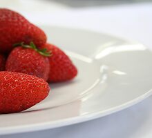 Strawberries On A Plate by RICSD