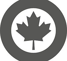 Low Visibility Roundel of the Royal Canadian Air Force  by abbeyz71
