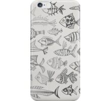 Silver Inked Fish iPhone Case/Skin