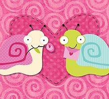 Cute Valentine's love bug snails by artisticattitud