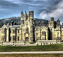 castle hdr margam park red bubble meet port talbot by zacco
