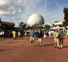 Disney's Spaceship Earth at Epcot by JakeyJurin