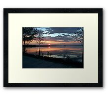 (。◕‿◕。) Sunset In God's Country( GODS PAINTING) (。◕‿◕。)  Framed Print