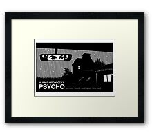 Psycho movie poster Framed Print