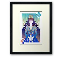 Anthrocemorphia - Queen of Clubs Framed Print