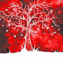 Heart Tree (Red Variant) by LVBART