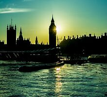 Big Ben Parliament Sillouette by Jerry Tremaine