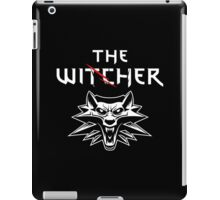 The Witcher Wolf Symbol and text white iPad Case/Skin