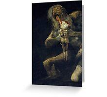 De Goya's Monsters Greeting Card