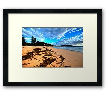 Palmie - Sydney Beaches - Palm Beach, - The HDR Series - Sydney,Australia Framed Print