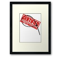 Certified Cable Tie Professional Framed Print