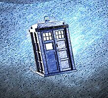 Tardis In Space Art Painting by SecondArt
