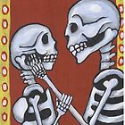 Dia de los Muertos Skeletons in Love by natashablue