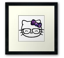 Hello Kitty w/ Galaxy Bow Framed Print