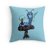 Hookah Smoking Catterpillar V3.0 Throw Pillow