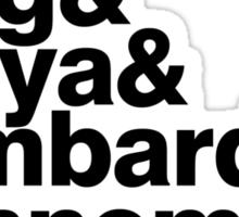 Slayer member list ampersand Sticker