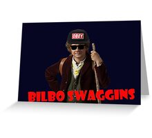 Bilbo-Swaggins Cap Greeting Card