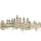Philadelphia Pennsylvania Skyline Sheet Music Cityscape by Michael Tompsett