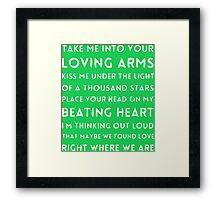 LOVING ARMS Framed Print