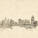 Cincinnati Ohio Skyline Sheet Music Cityscape by Michael Tompsett