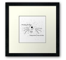 Dan & Phil |The cat whiskers- they come from within Framed Print